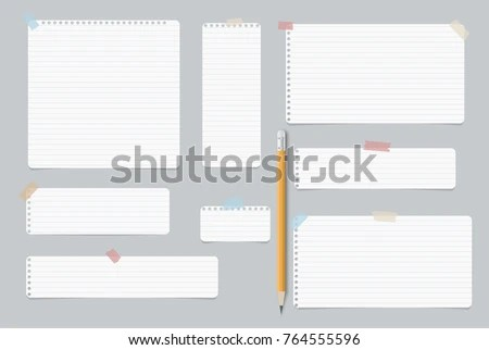 Blank Paper Sheets - Download Free Vector Art, Stock Graphics  Images - lined blank paper