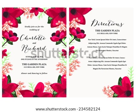 Modern Wedding Card Templates - Download Free Vector Art, Stock