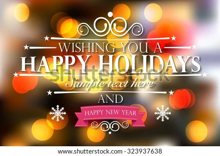 Happy Holidays - Download Free Vector Art, Stock Graphics  Images - happy holidays and new year greetings