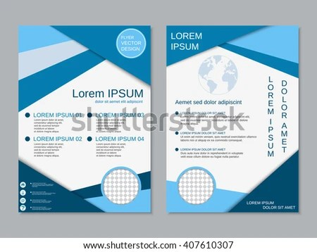 Royalty-free Professional two-sided booklet template\u2026 #403659190