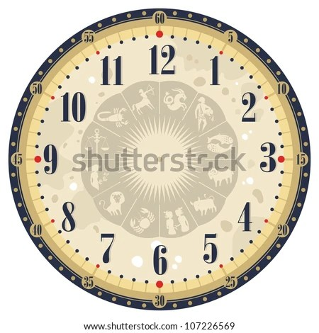 Vector Images, Illustrations and Cliparts Vintage clock face