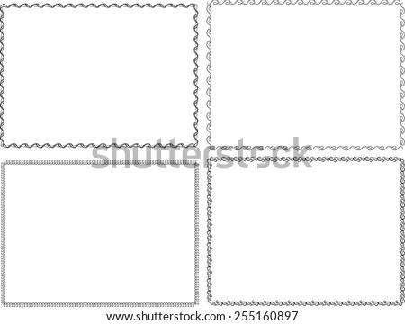 Page Border Line Vectors - Download Free Vector Art, Stock Graphics