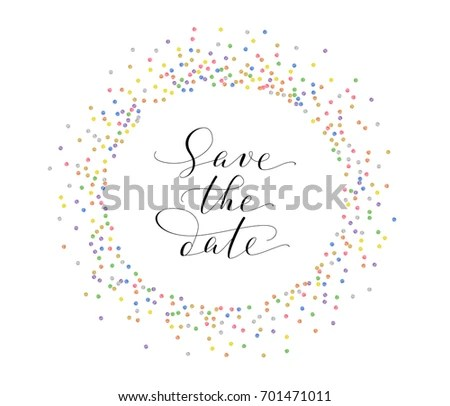 Vector Glitter Save the Date Banner - Download Free Vector Art - frame for cards
