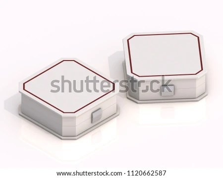 3 D Rendering Blank Boxes Isolated On Stock Illustration 1120662587