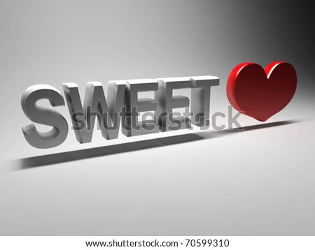 Royalty Free Stock Illustration of 3 D Word Sweetheart Stock