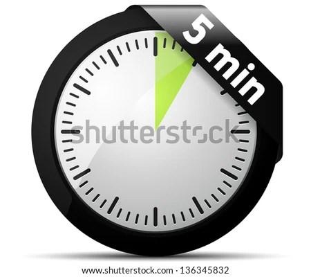 5 Minutes Timer Stock Illustration 136345832 - Shutterstock