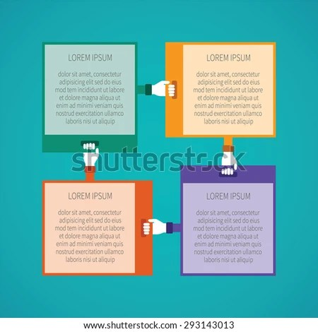 Abstract Bitmap 4 Steps Infographic Template Stock Illustration