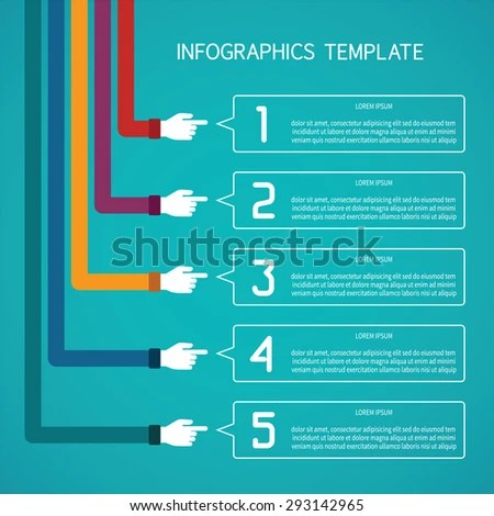 Abstract Bitmap 5 Steps Infographic Template Stock Illustration