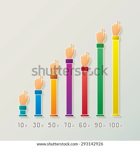 Abstract Bitmap Bar Diagram Infographic Template Stock Illustration