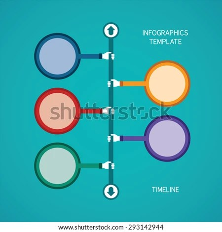 Abstract Bitmap Timeline Infographic Template Flat Stock