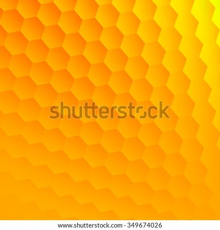 Abstract Yellow Hexagons Background Cool Hexagon Stock Illustration