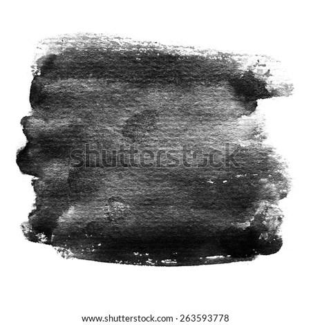 Artistic Banner Black Watercolor Background Black Stock Illustration