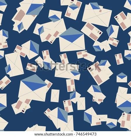 Background Pattern Open Mail Envelope Modern Stock Illustration - mail background