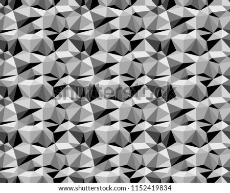 Black On White Geometric Facet Pattern Stock Illustration 1152419834