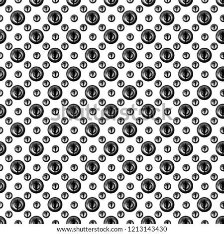 Black Polka Dot Digital Paper White Stock Illustration 1213143430