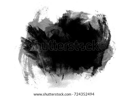 Royalty Free Stock Illustration of Black Watercolor Background Stain