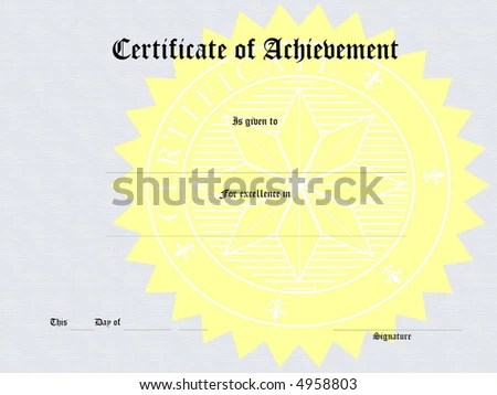 Royalty Free Stock Illustration of Blank Award Certificate Form