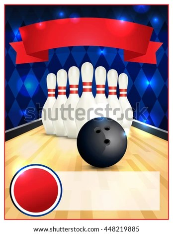 Royalty Free Stock Illustration of Blank Bowling Flyer Template