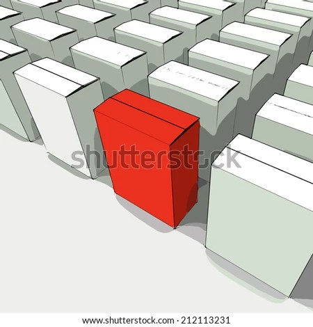 Blank Box Copy Space Meaning Stand Stock Illustration - Royalty Free