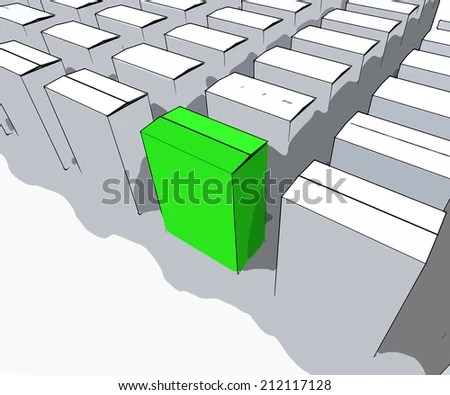 Royalty Free Stock Illustration of Blank Box Copy Space Meaning