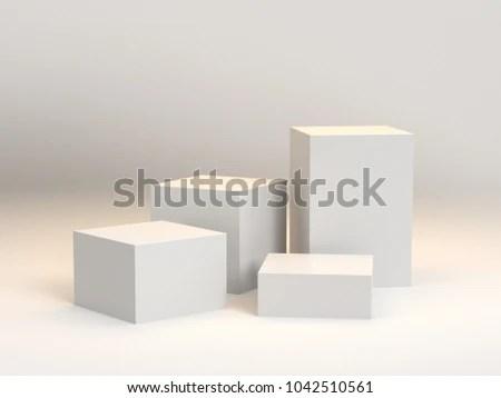 Blank Box Display 3 D Rendering Stock Illustration 1042510561