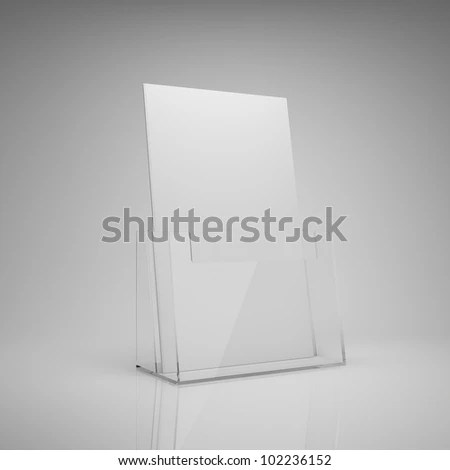 Blank Brochure Glass Holder Stock Illustration 102236152 - Shutterstock