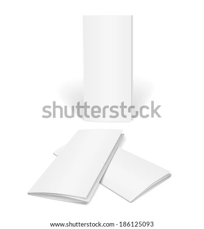 Blank Brochure Template On White Background Stock Illustration