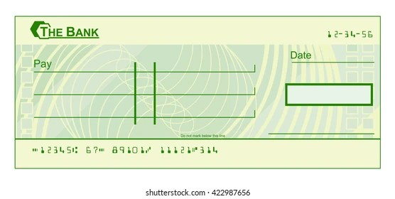 Blank Cheque Check Template Illustration Stock Vector (Royalty Free - blank cheque template
