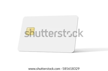 Blank Credit Card Template Empty Chip Stock Illustration 585618329
