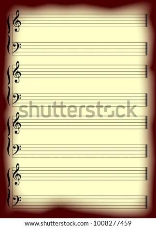 Blank Musical Staff Staves Stock Illustration 1008277459 - Shutterstock