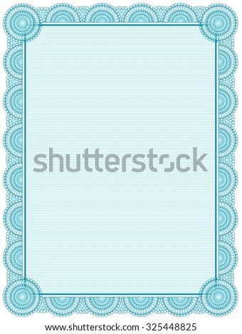 Blank Printable Certificate Frame Template Stock Illustration
