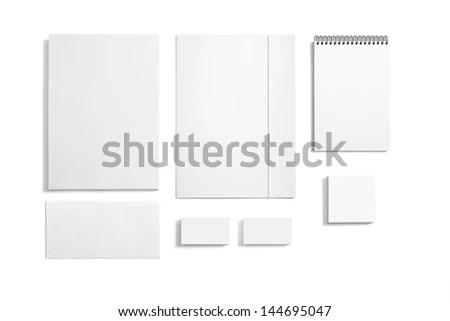 Blank Stationery Templates Blank Stationery Folder Stock