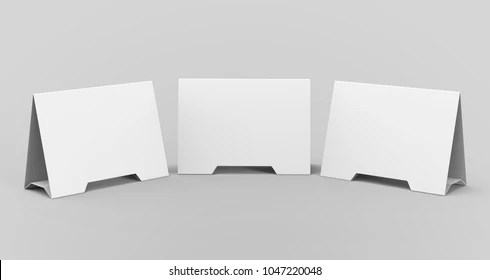 tri-fold table tent card Images, Stock Photos  Vectors Shutterstock