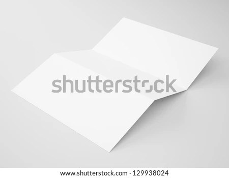 Blank Tri Fold Brochure Zigzag Folded Flyer Stock Illustration