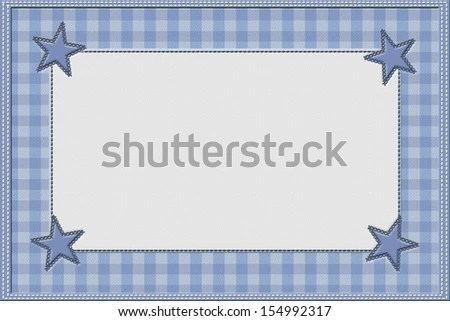 Royalty Free Stock Illustration of Blue Gingham Baby Announcement
