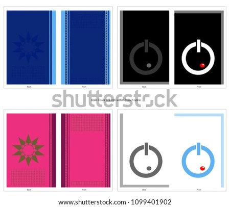 Book Cover Designs Front Back 69 Stock Illustration 1099401902
