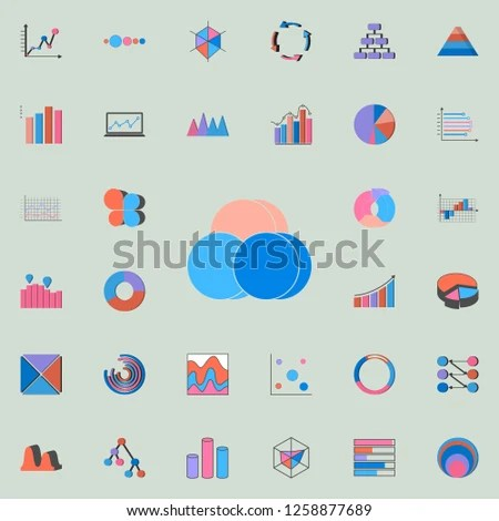 Bubble Chart Icon Charts Diagramms Icons Stock Illustration