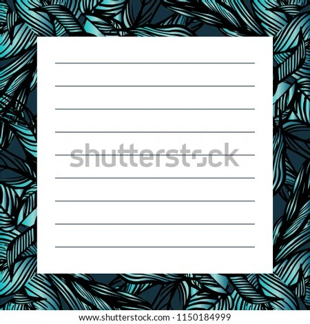 Card Design Template Jungle Card Memos Stock Illustration 1150184999
