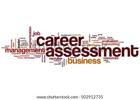 Career Assessment Word Cloud Concept Stock Illustration - Royalty