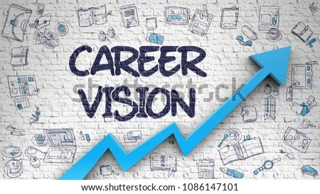 Career Vision Development Concept Doodle Design Stock Illustration