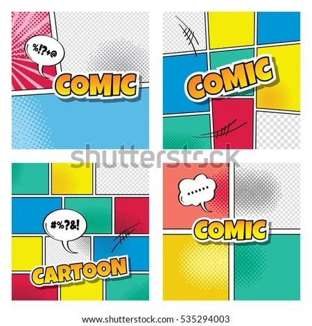 Cartoon Comic Book Template Stock Illustration - Royalty Free Stock