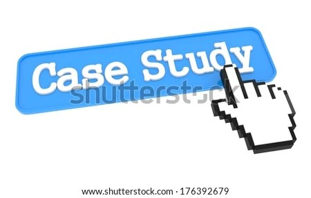 Case Study Blue Button Hand Cursor Stock Illustration 176392679
