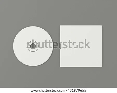 Royalty Free Stock Illustration of CD Disc Carton Packaging Cover