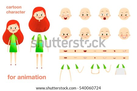 Character Design Animation Parts Body Template Stock Illustration