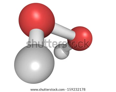 Chemical Structure Hydrogen Peroxide H 2 O 2 Molecule Stock
