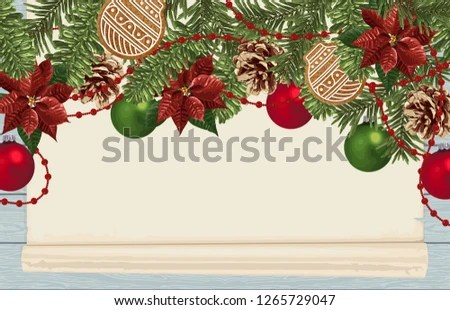 Royalty Free Stock Illustration of Christmas Border Composition