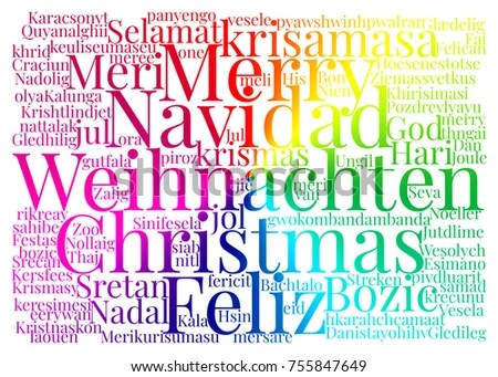 Christmas Card Words Stock Illustration - Royalty Free Stock