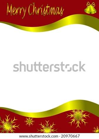 Christmas Letter Stationary Top Bottom Christmas Stock Illustration