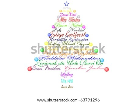 Christmas Tree Made Words Congratulations Different Stock