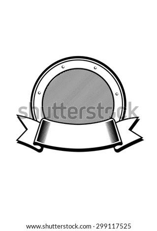 Coat Arms Template Illustration Crest Stock Illustration 299117525